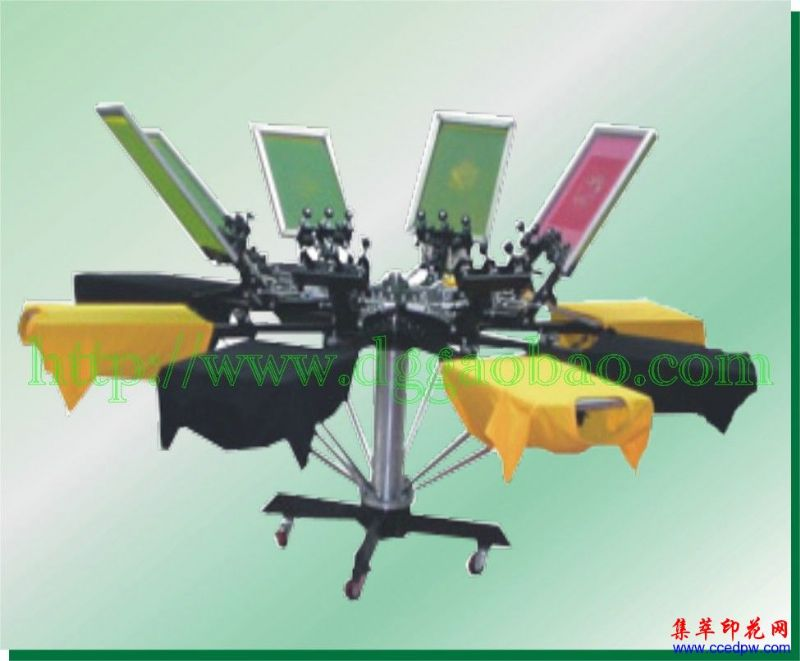 手动八色转盘印花机