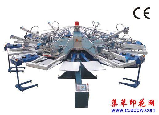 翼展印花設備供應商,全自動膠漿印花機,4-18色平網印花機