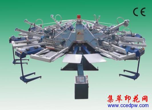 全自動旋轉膠漿印花機,絲印機,T恤印花機,圓盤印花機,旋轉印花機