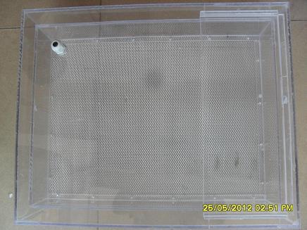 33.8*42.5CM中號印花靜電植毛箱柜子,靜電植絨箱子,植絨機