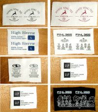 热转印洗水标成分标烫标印唛烫画印花可免费寄样排版