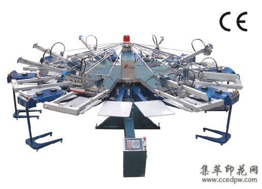 SPJ全自動旋轉膠漿印花機/絲印機