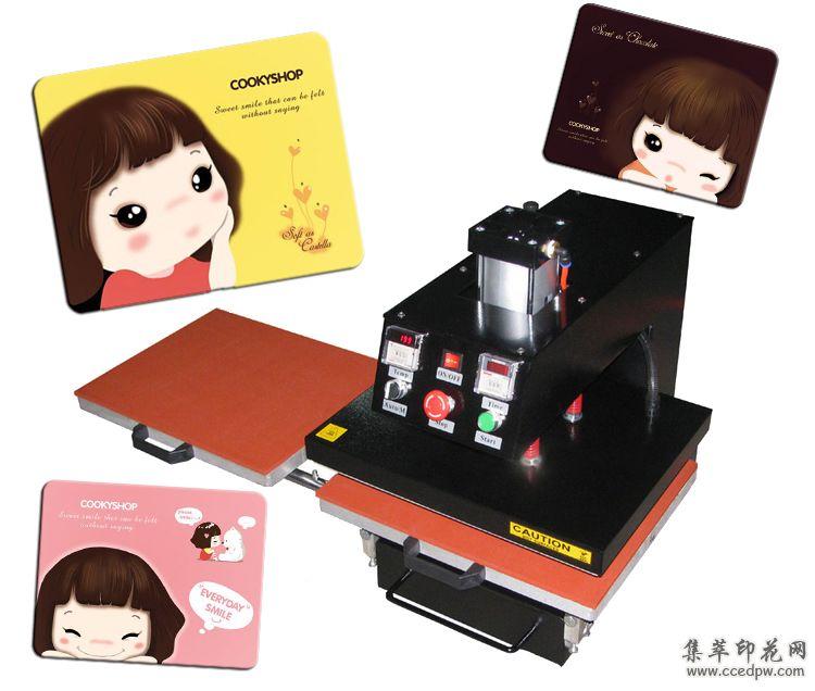 厂家直销60*80cm气动自动双工位热转印机烫画机服装印花机压烫机