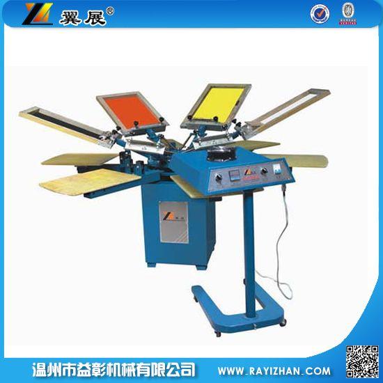 六色手动转盘印花机手动印花机,印花机,四色印花机,八色印花机