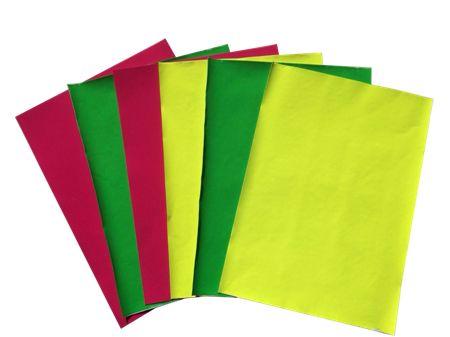 高档荧光色植绒纸