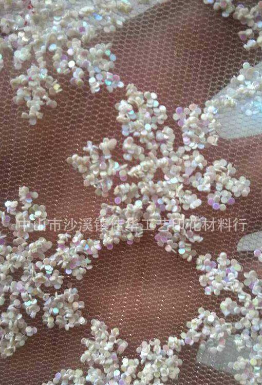 韩国黑色圆片白色透明圆片厚印花白色圆形亮片加厚圆形金葱粉