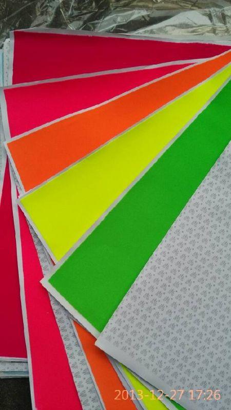 熒光色植絨紙,無白邊植毛紙,廣東中山植絨紙