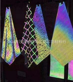 灯光照射变颜色七彩反光膜高强反光彩虹膜PET反光膜