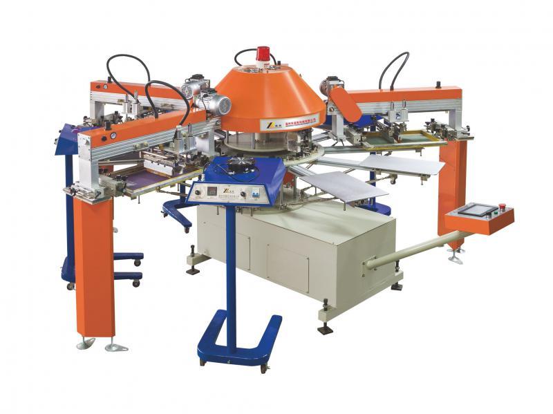 温州益彰机械全自动SPG系列小型童装多色印花机