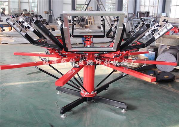 新锋手动立柱式双轮转印花机新型印花机