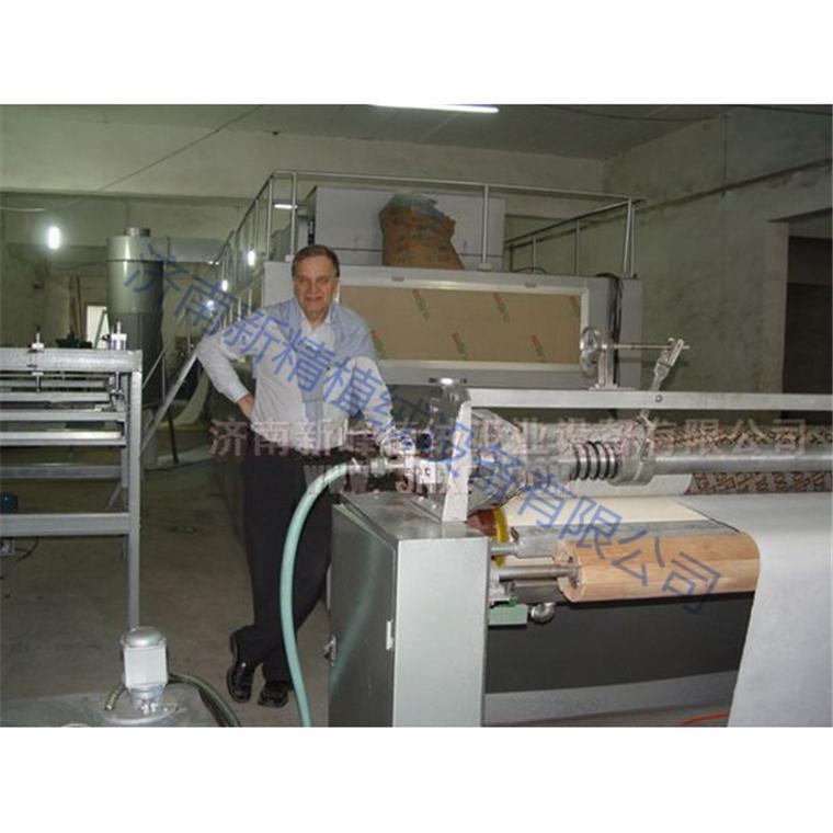 卷材全自动布料纸张植绒上胶设备