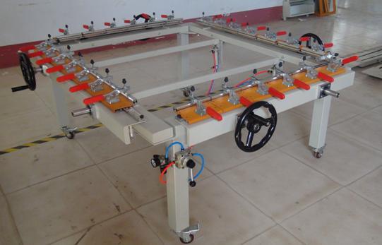 冠达气动绷网机GD-300可定制机械式拉网机丝网印刷设备