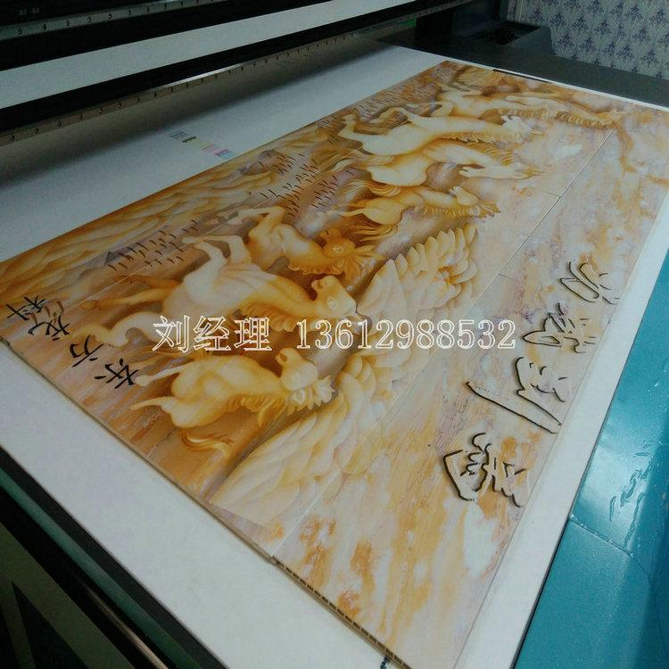 竹木纤维集成墙板壁画uv万能打印机性能分析