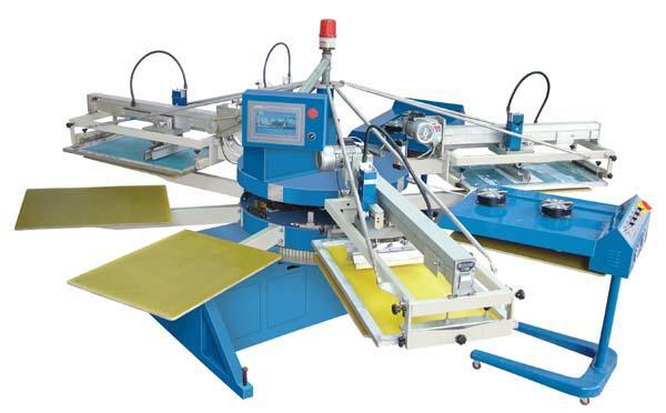 翼展SPE系列经济型全自动多色印花机,服装丝网印花机