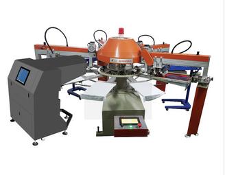新款全自动多色丝印机与数码打印机结合印花机