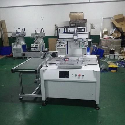 转盘印花机,多工位转盘丝印机,机械手上下料网印机