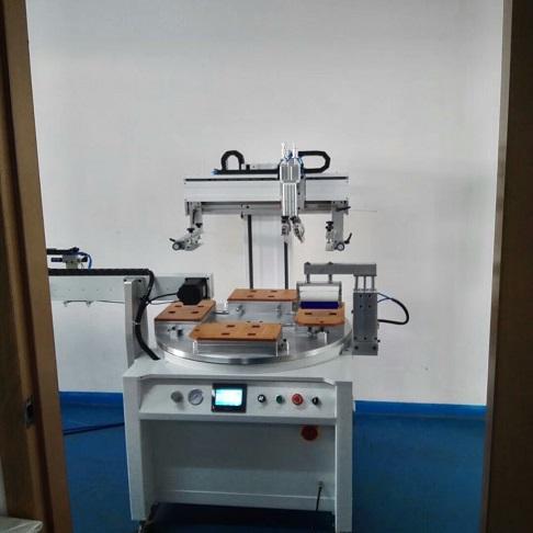 亚克力印花机,全自动转盘丝印机,高速转盘丝网印刷机