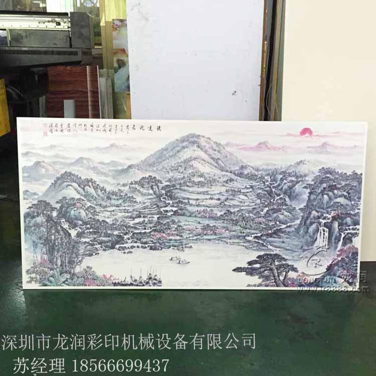 广东玻璃uv平板打印机玻璃印花机3D立体背景墙UV平板打印机