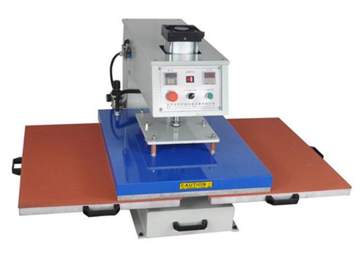 东莞美言印花机械气动双工位烫画机烫钻标签机