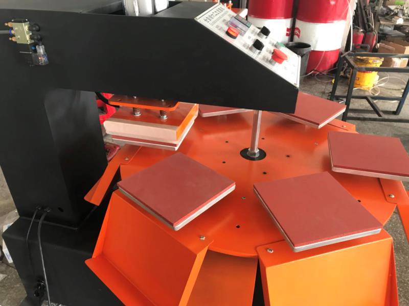 东莞美言印花机械气动六工位烫画机可定制尺寸烫标机