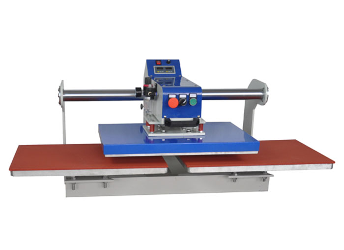 东莞美言印花机械上滑式气动双工位烫画机标签机