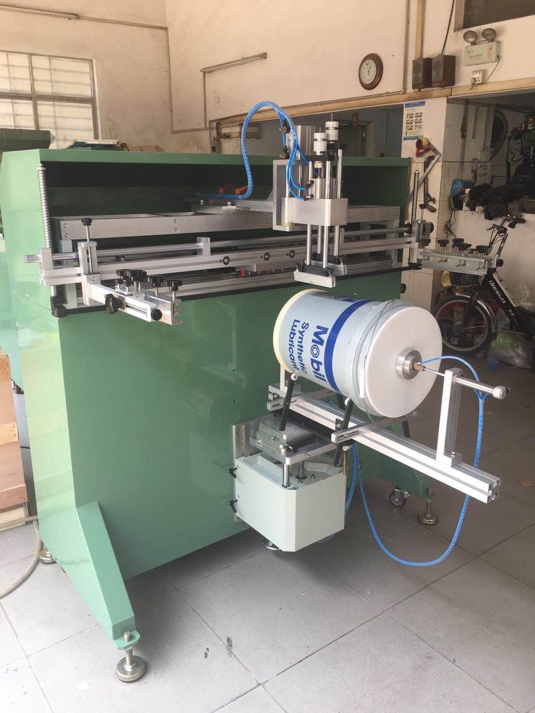 涂料桶滚印机塑料桶丝印机化工桶丝网印刷机