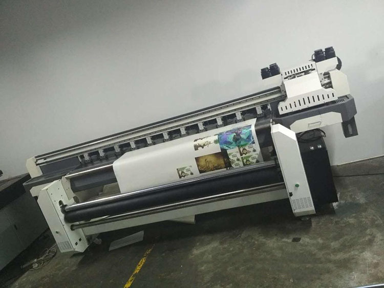 3D卷材uv打印機18米32米卷對卷噴繪機墻紙墻布噴繪布uv印花