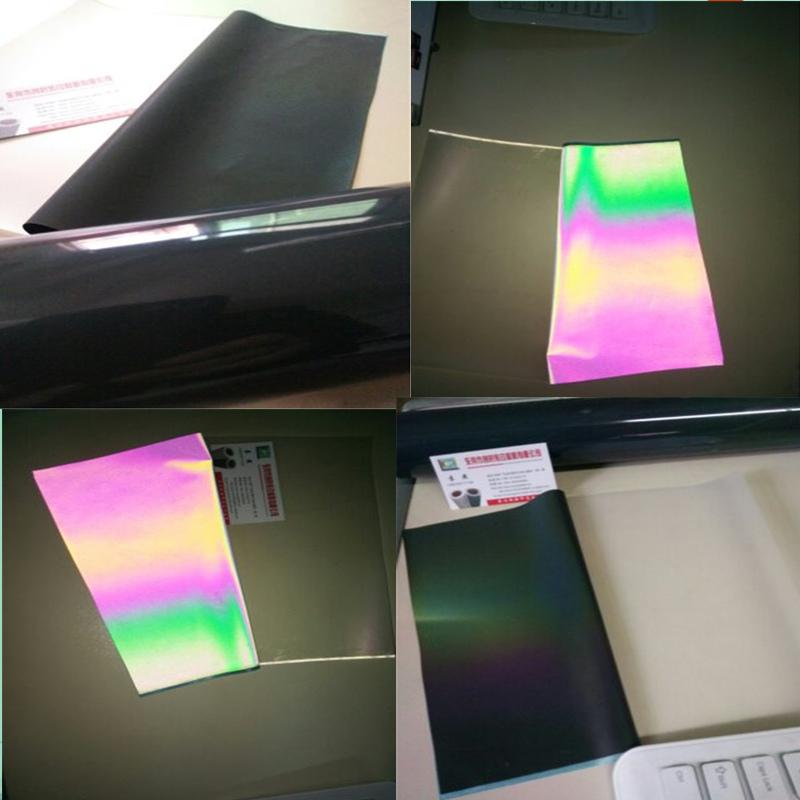 创时鞋材反光幻彩转移膜服装幻彩反光膜TPU反光幻彩丝印膜
