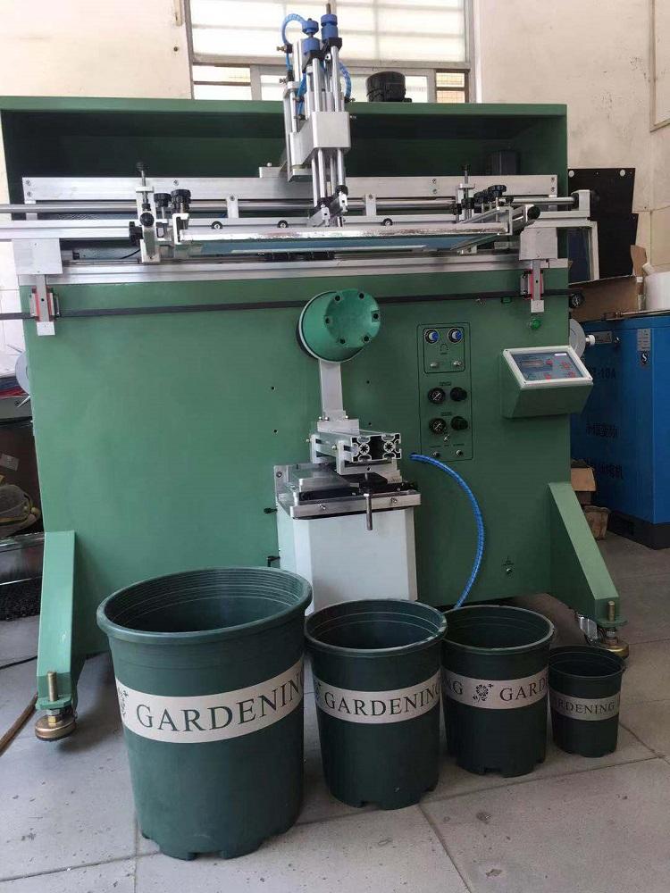 加仑花盆丝印机加仑桶滚印机六面花盆丝网印刷机