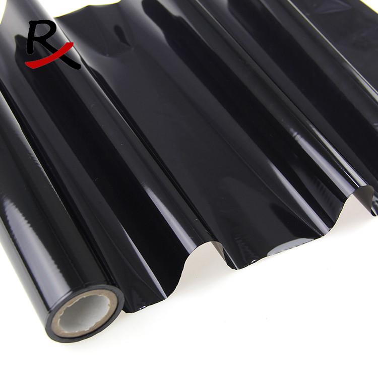 黑色布料皮革燙金紙專用耐高溫耐水洗織帶電化鋁燙金膜免費拿樣
