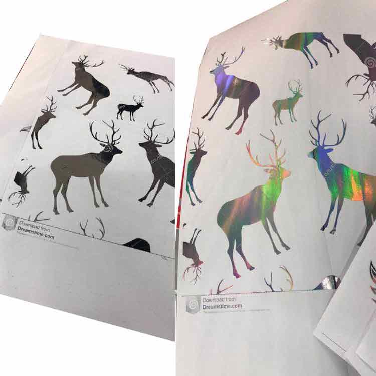 激光打印机专用碳粉烫金纸数码打印烫金膜可烫大图案和细线条