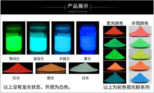 彩色夜光粉批发塑胶烫画蓝绿光夜光粉化妆品蓝绿光夜光粉