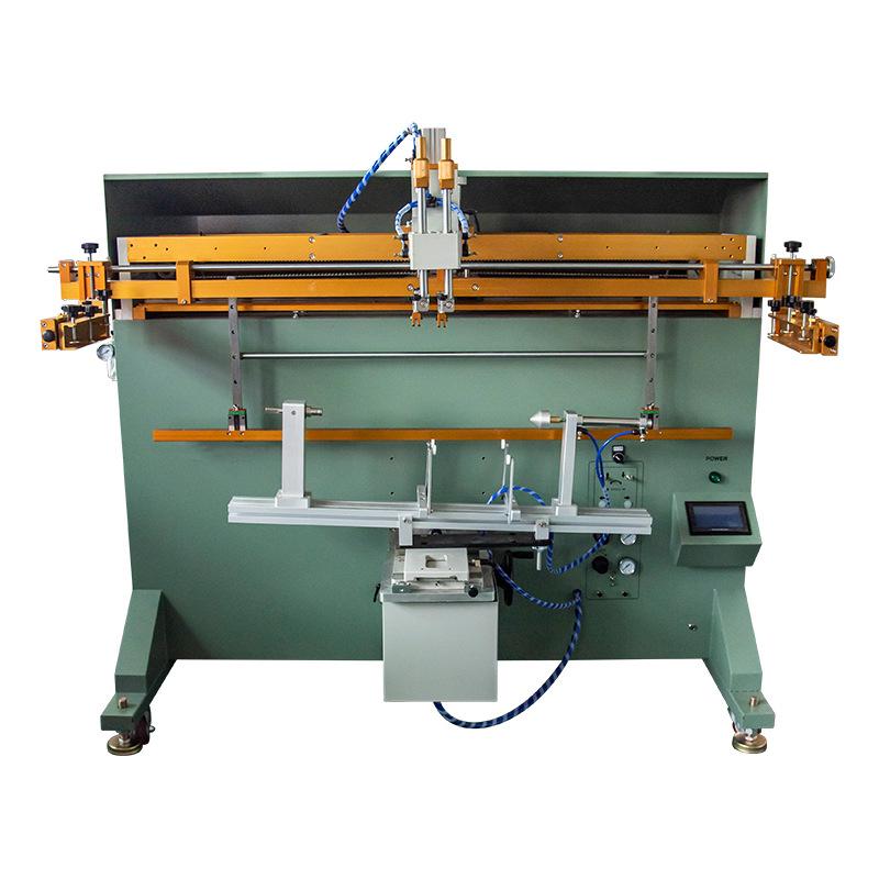 多肉花盆丝印机加仑花盆丝网印刷机方型花盆滚印机
