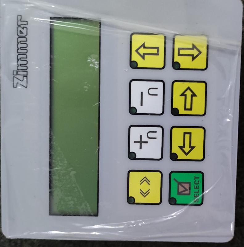 齐玛圆网印花机操作面板
