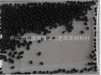韩国中号黑色印花胶珠大号小号黑色胶珠白色塑胶珠透明胶珠