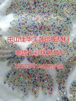 供应环保韩国胶珠韩国电镀金珠-七彩珠-印花胶珠