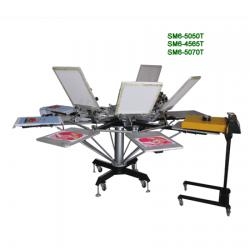 转盘式手动平面服装丝印机SM8-4565