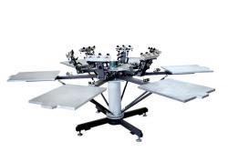 新锋厂家直销多色八爪鱼服装定制创意t恤手动轮转丝网印花机