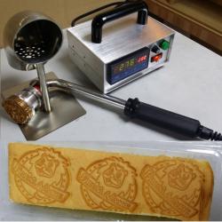 恒温调温式蛋糕烙印机定制铜模蛋糕烙铁印模具LOGO标志烘焙模