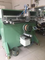 垃圾箱丝印机垃圾桶滚印机塑料桶丝网印刷机厂家直销