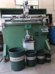 佛山市花盆丝印机厂家加仑花盆滚印机六角花盆丝网印刷机