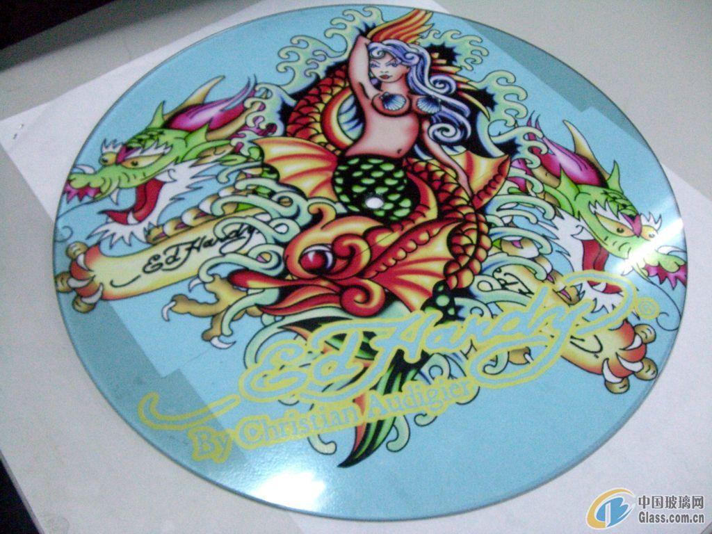 提供广州玻璃数码印花加工