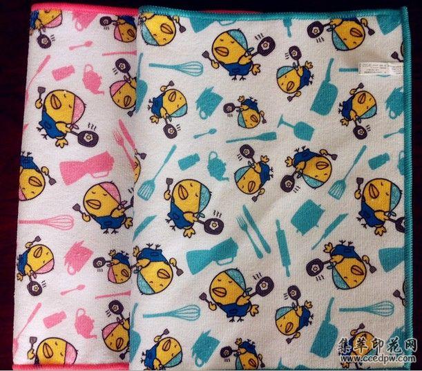 超细纤维毛巾数码印花,超细纤维毛巾热转移印花,毛巾印花加工