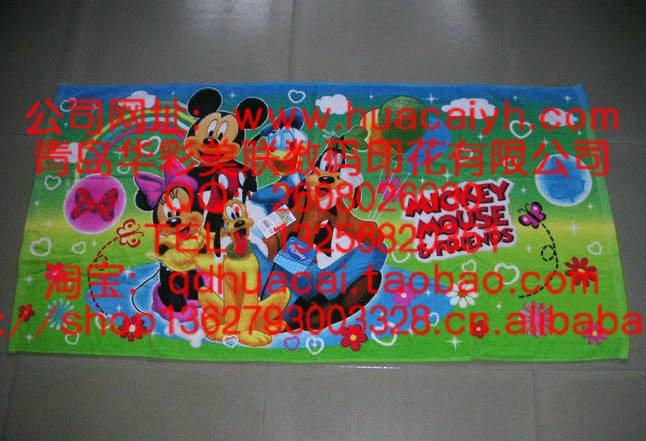 青島家紡印花廠 青島枕巾熱轉印熱升華轉移數碼印花加工價格