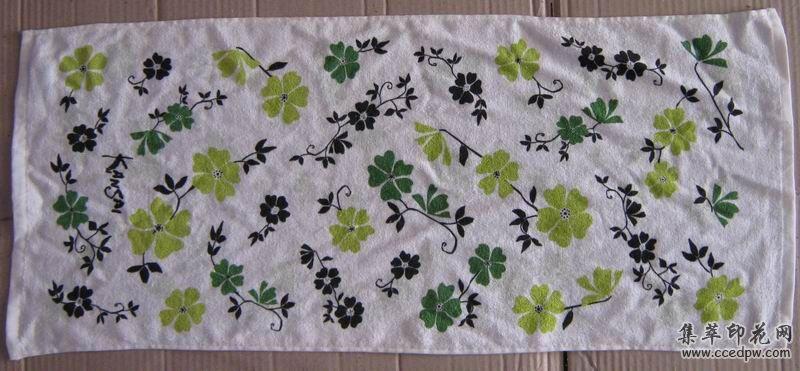 絲網印花廠提供促銷毛巾印花/廣告毛巾印花加工