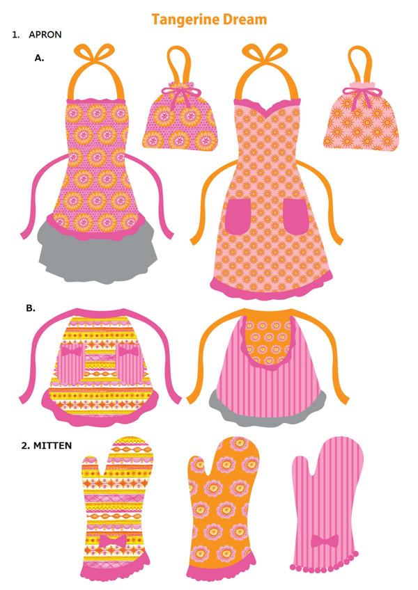 围裙手套袋烫画