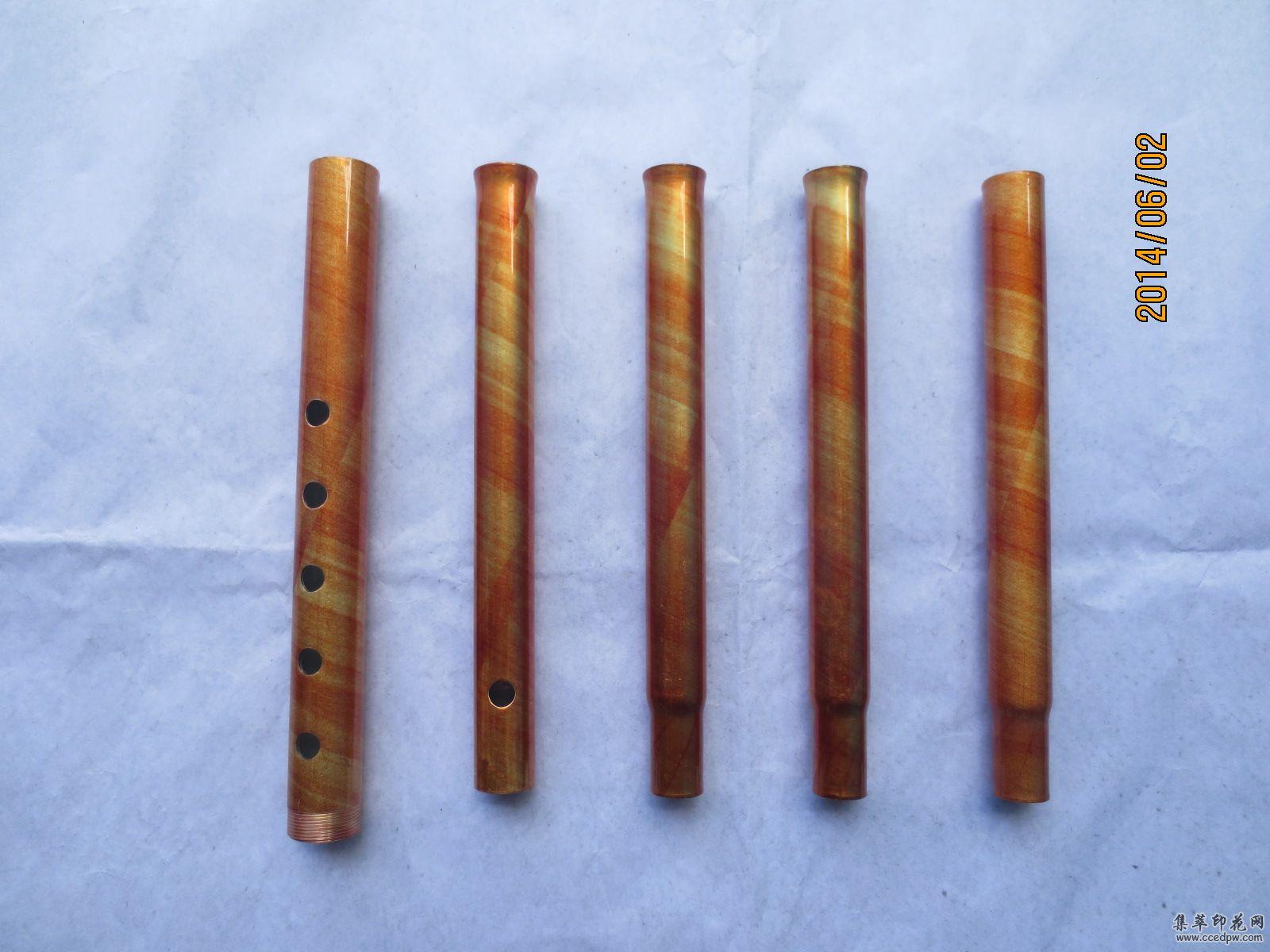 金属印花:金属圆管拐杖外贸印花