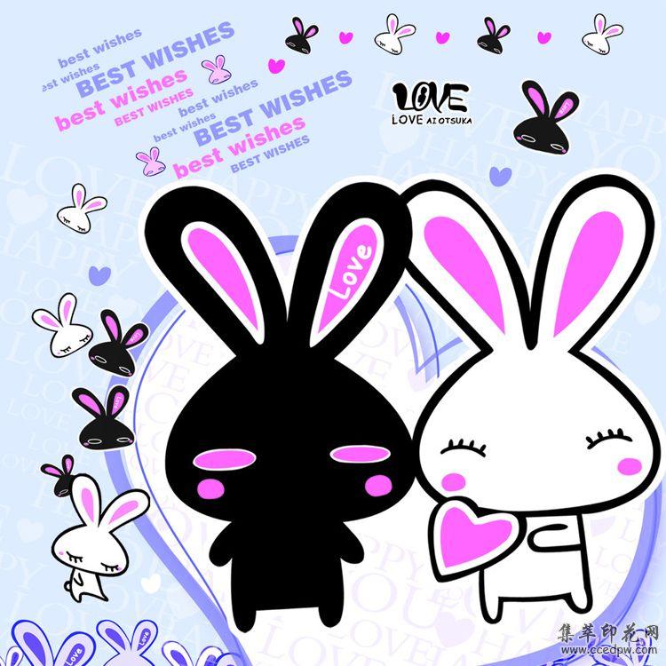 广东热转印烫画厂家 国外流行儿童卡通图案 metoo咪兔龙猫