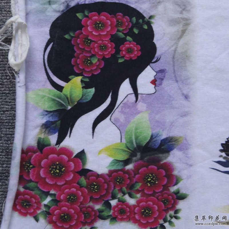 广州全棉数码直喷印花|纯棉T恤裁印花加工-广州漫彩数码印花厂