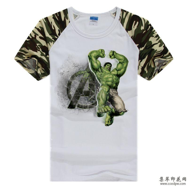 棉麻T恤数码直喷印花 精品男装印花 时尚印花T恤